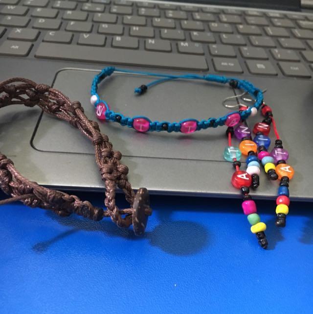 Acecories Gelang Dan Anting.. Handmade. All New