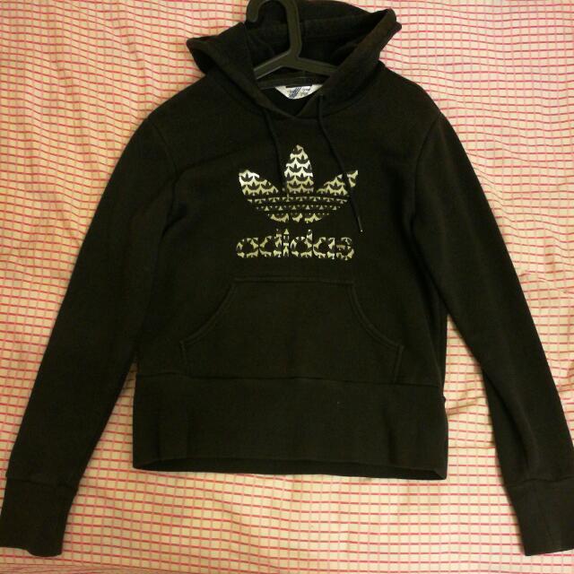 Adidas Hoodie (Black W/ Gold Logo)
