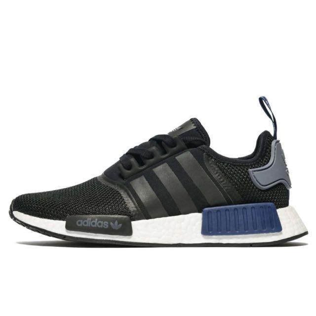 15f67a33eee5 Authentic Adidas Originals Nmd R1 Core Black Navy Blue