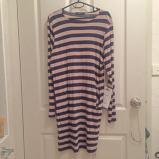 Bassike Small Hemmed Neck Tshirt Dress