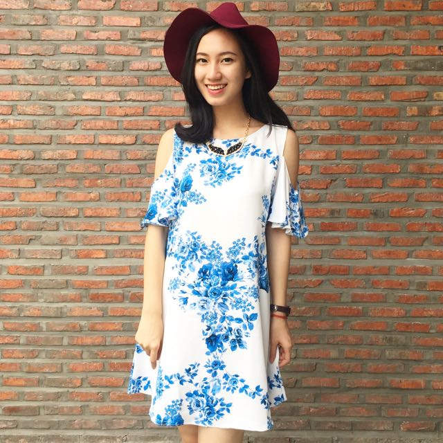Blue Flowers Dress