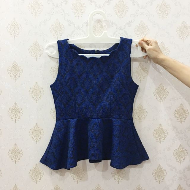 Blue Lace Peplum