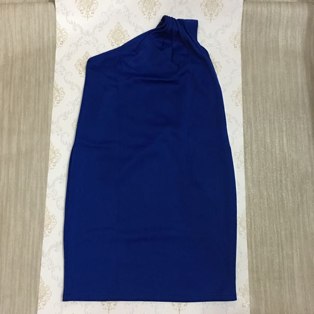 Blue One Shoulder Dress