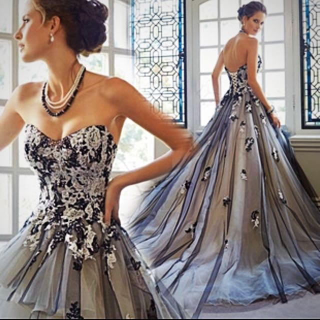 Brand new Bridal Gown Wedding Dress Black And White