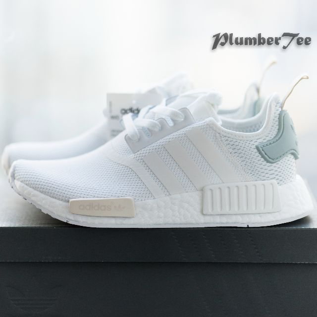 55c06480e ... top quality women adidas original nmd r1 force white tactile green  womens fashion shoes on carousell