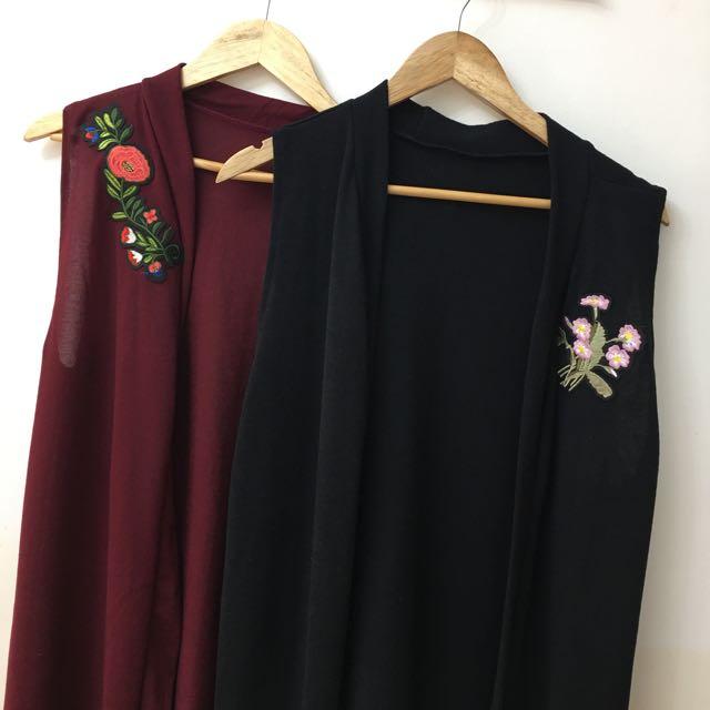 Cardigan W/ Floral Patch