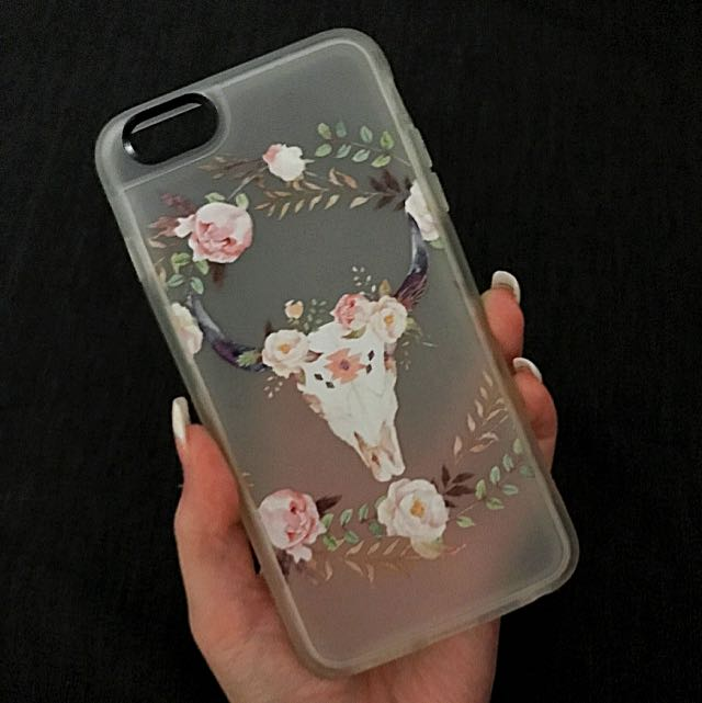 Casetify iPhone 6S Skull & Flowers Case