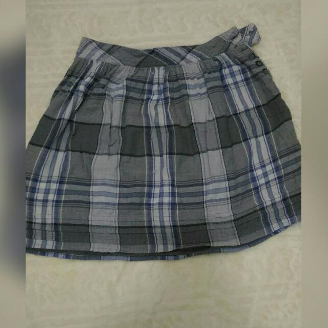 Checkered Gray Skirt