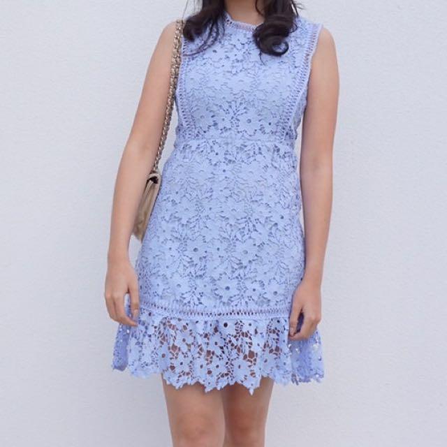 CHOCOCHIPS JENNY DRESS IN BLUE SIZE M