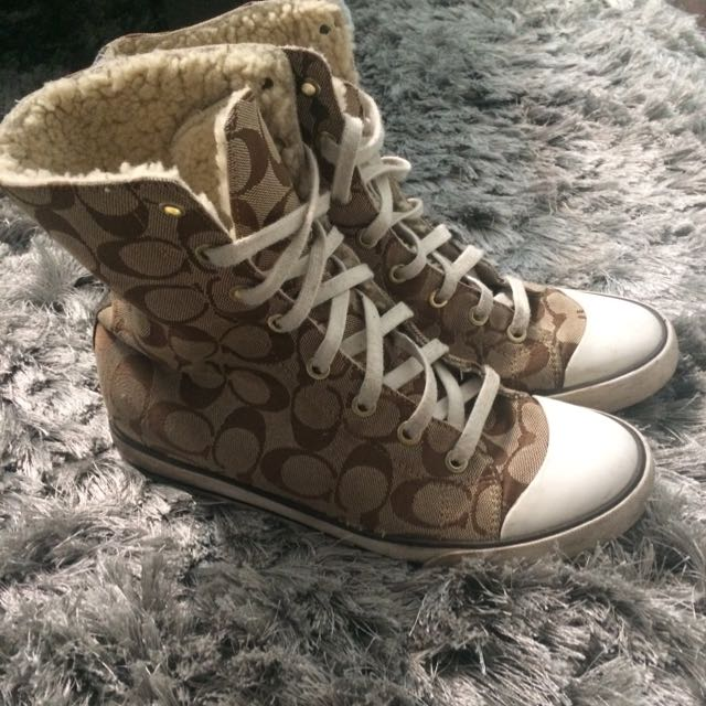 Coach High Top Sneakers Size 8