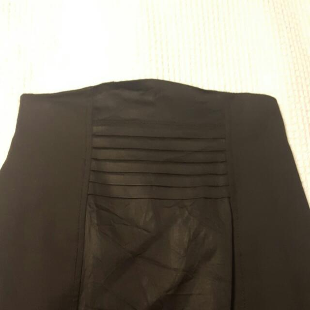 Cue Black High Waisted Skirt Size 10