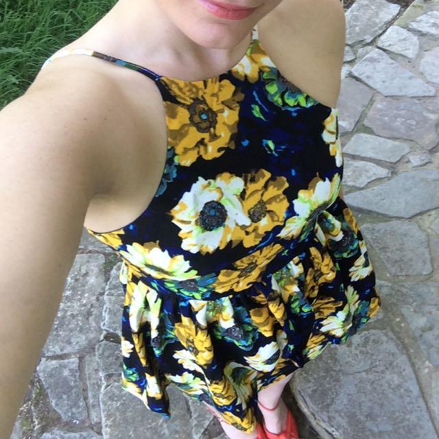 Cute Short Floral Dress