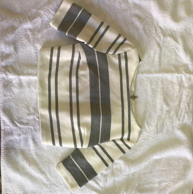 Cute Striped Crop - Perfect Condition!!!