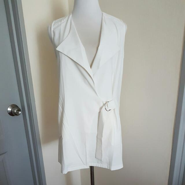 Drapey Sleeveless Blazer