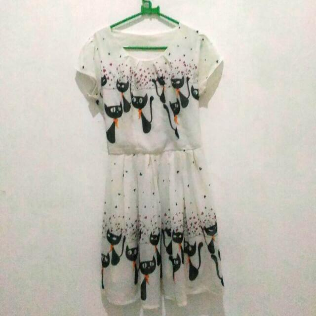 Dress Chiffon Kucing