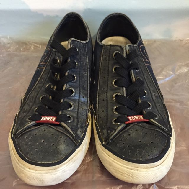 EDWIN限定版牛仔帆布鞋
