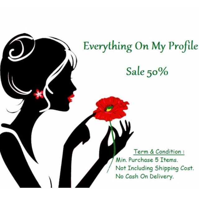 Everythings On MY Profile Are Sale 50% Min. Purch 5 Items (Not For Shoes - Only Clothes)