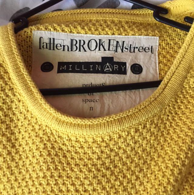 Fallen Broken Street Yellow Oversized Knit