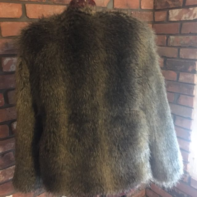 Faux Fur Oversized Coat