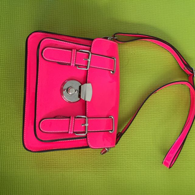Fluro Hot Pink 80's Purse