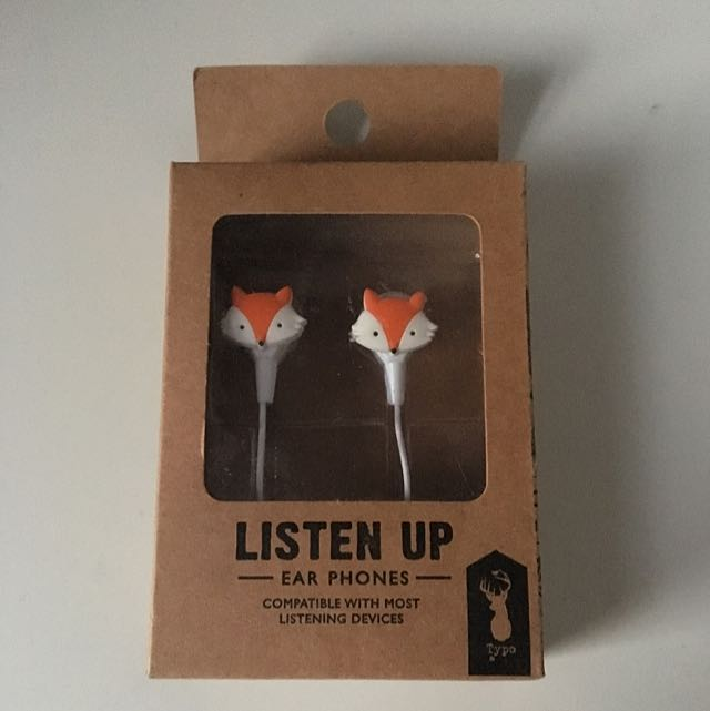 Fox Earphones from Typo