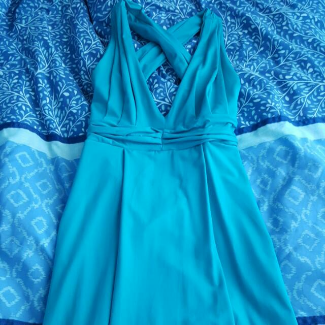 Full Length Teal Kookai Dress