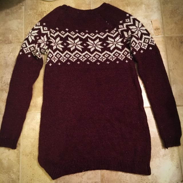 Garage Maroon Sweater Dress Size Small