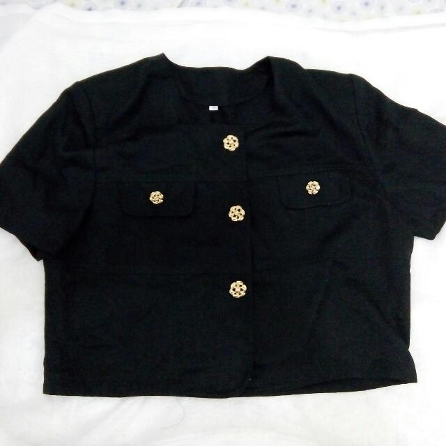Goldy Black Blouse