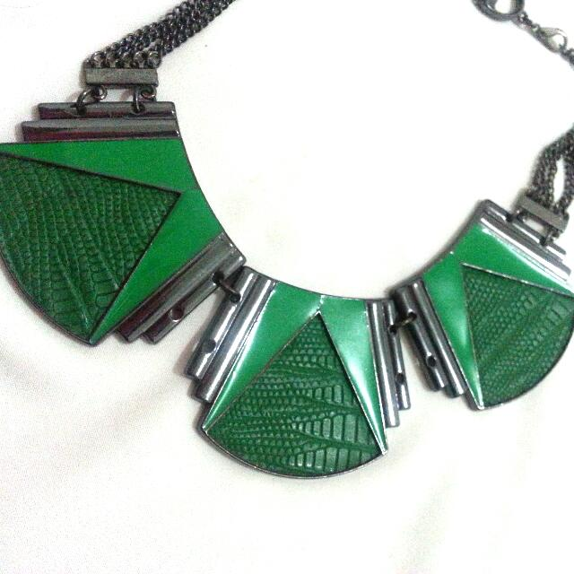 Green Snakeskin Necklace