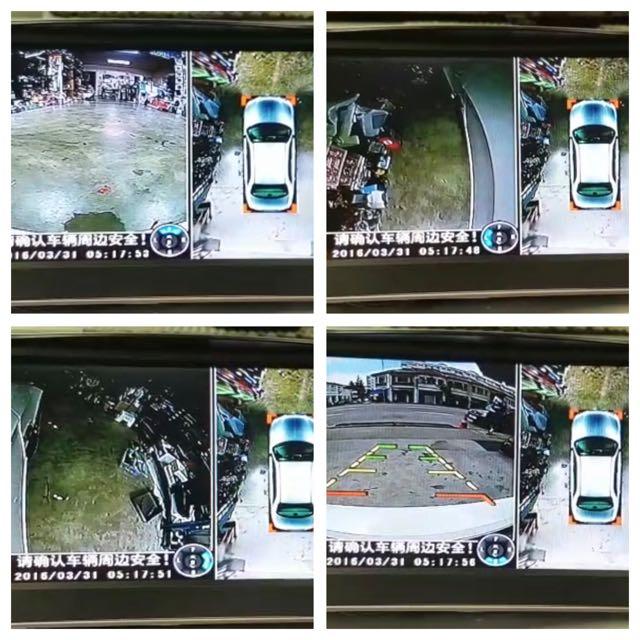 High Resolution Bird Eye View 360 Degrees Car Camera