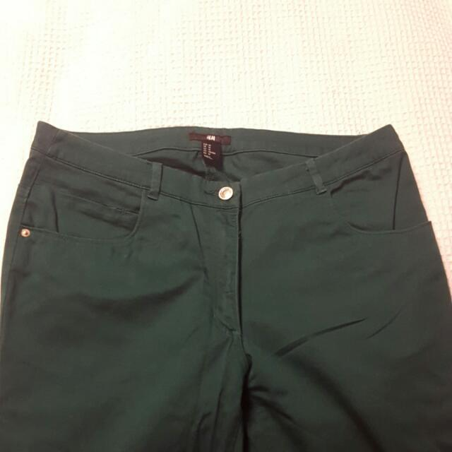 H&M Bright Green Pants Size 10