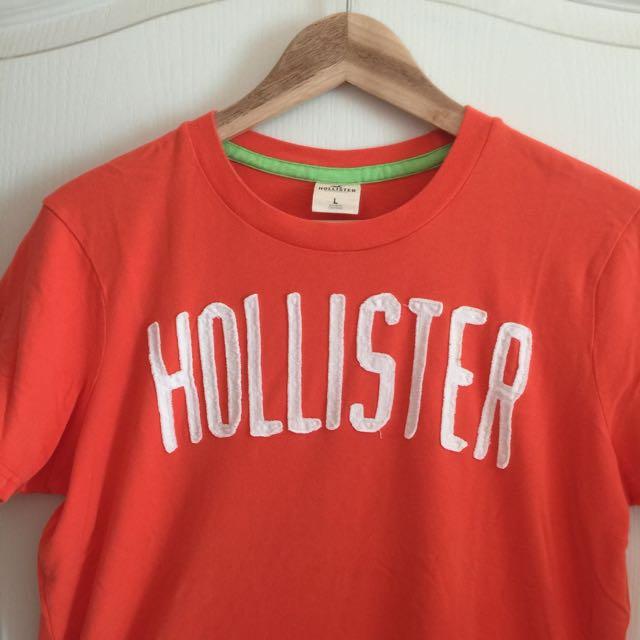 HOLLISTER 短T 橘色
