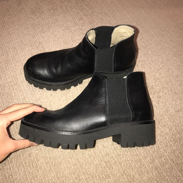 Italian Black Leather Boots
