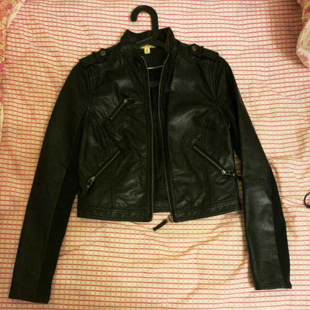 Jay Jays Leather Jacket, Size 8