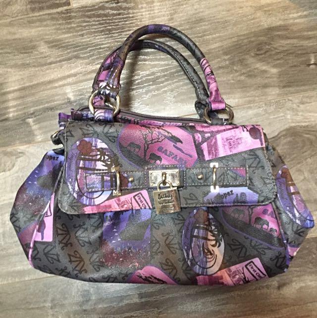 KATHY VAN ZEELAND Purple Purse