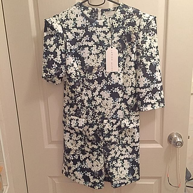 Lavish Alice Floral Playsuit Size 10