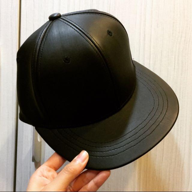 Lulus 正韓 黑色皮質棒球帽