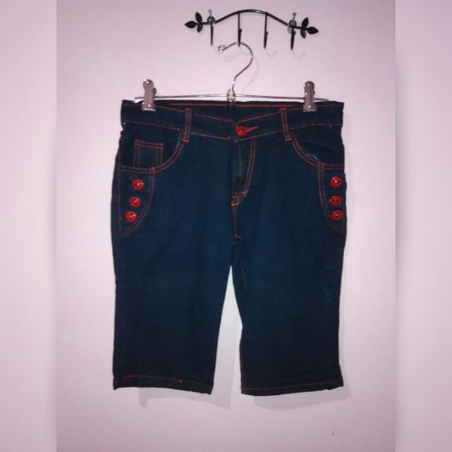 Navy Blue Short Jeans