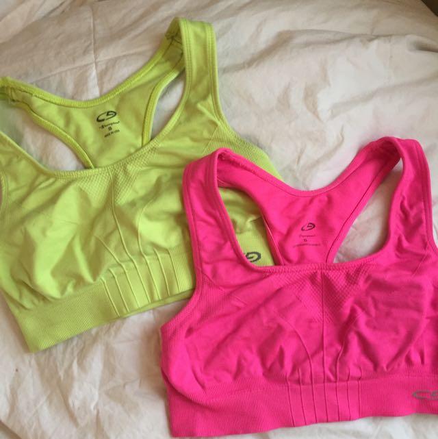 Neon sports bras