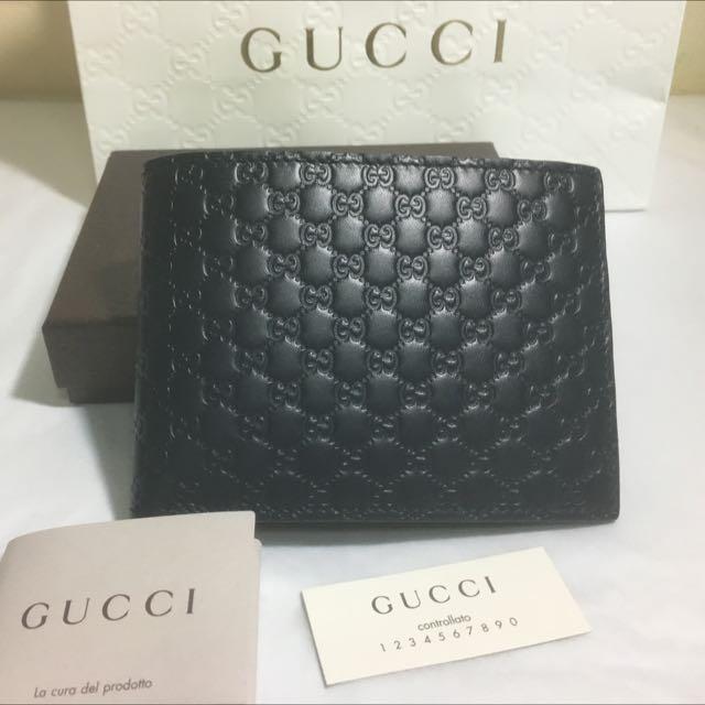 f28784993e2 New Gucci Microguccissima Leather Men billfold wallet 278596