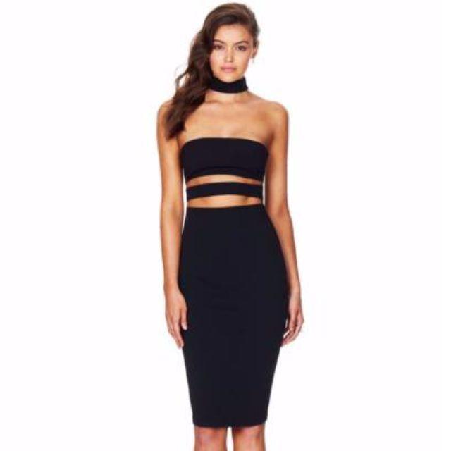 Nookie Black Frankie Bodycon Dress Size S New With Tags