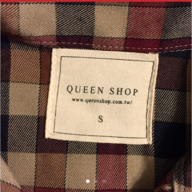 Queen Shop 中長版格紋襯衫