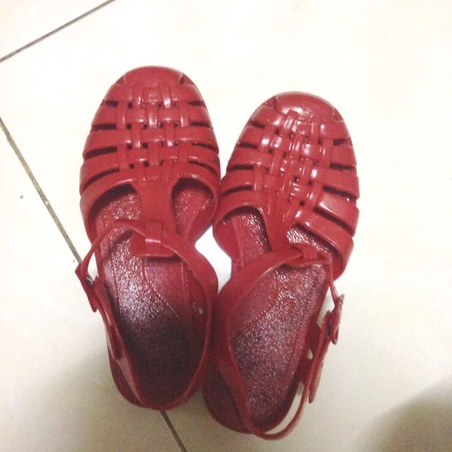 Red Jelly Shoes
