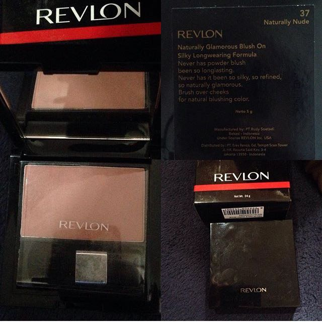 Revlon naturally glamorous blush on