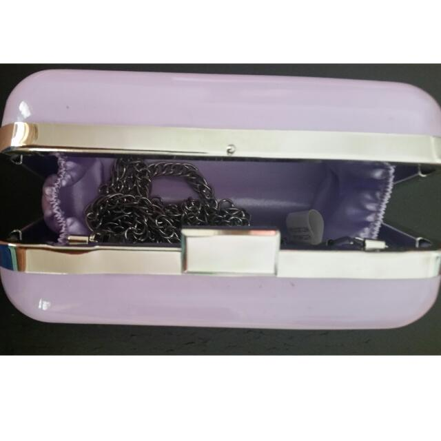 Spurr Lilac Mini Clutch