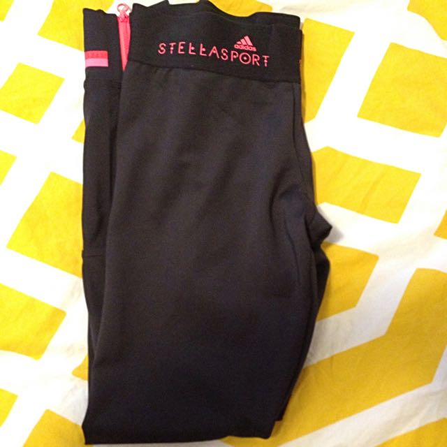 Stella McCartney Lux Full Length Black Leggins