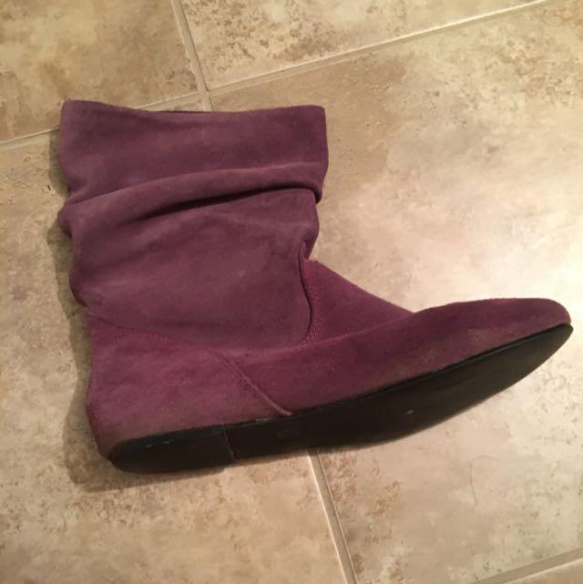 Steve Madden Purple Boots Size 6.5