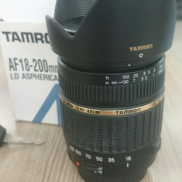 Tamron 18-200mm For Canon