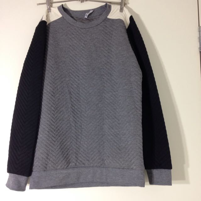 Size 8 Grey Top