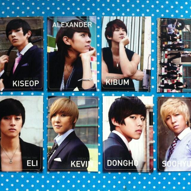 U-Kiss Breaktime Photocards